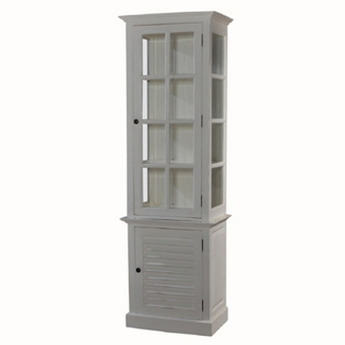 Hamptons 1DR Display  w/ Glass - Architectural White Light Distressed