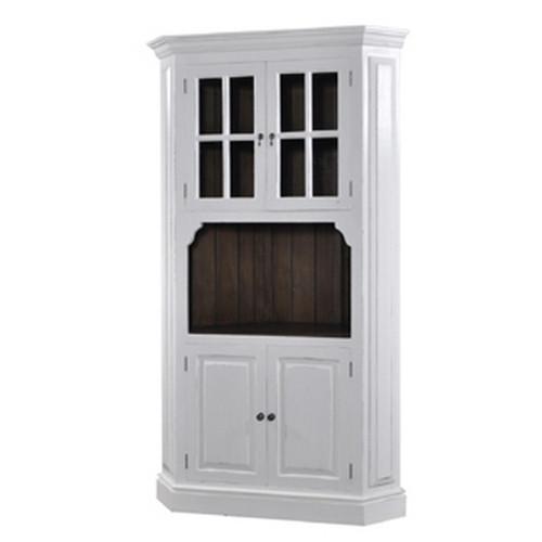 Cape Cod Corner Cabinet - White Light Distressed /ATO