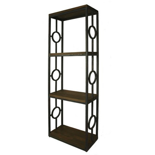 Iron Bookcase one Column - Antique Black /JJB/JJB-I