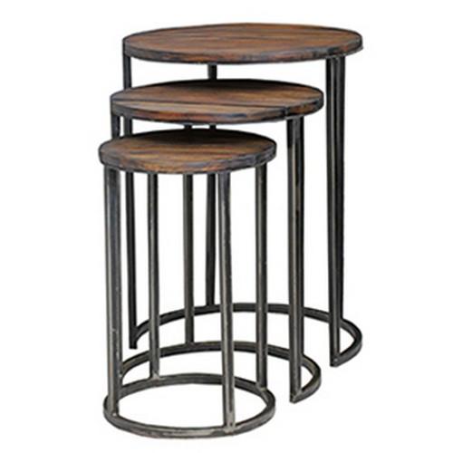 Urban Round Nesting Table - Size: 71H x 58W x 58D (cm)