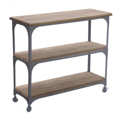 Industrial Bookcase 2 Shelf - Black