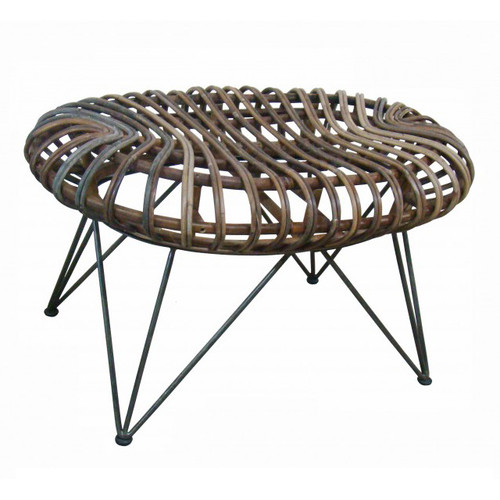 Barbados Rattan Kidney Stool