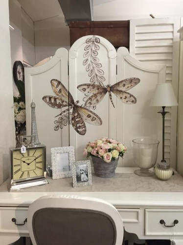 Provence Screen - White Light Distressed /A172