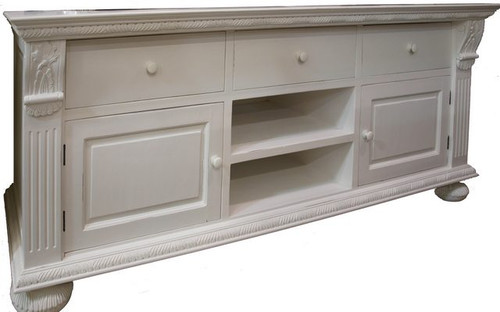 Charleston TV Stand - Architectural White Light Distressed