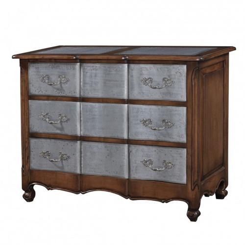 Provence 3 Drawer Dresser Large w/tin drawers - Antique Oak /TAN/D00