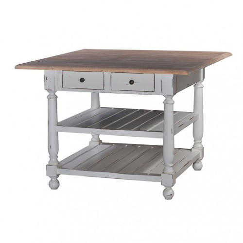 Stewart Gathering Table w/out Drop Leaf - White Heavy Distressed /DRW