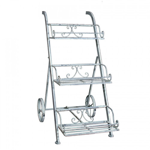 Herb Trolley with Wheels - Antique White