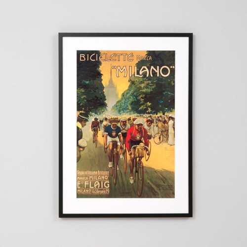 Framed Print: Biciclette Milano