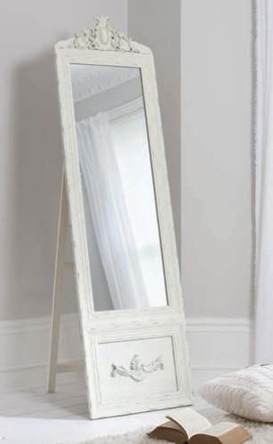 """Belvedere Mirror Vintage Cream Cheval 75.5x20.5"""""""