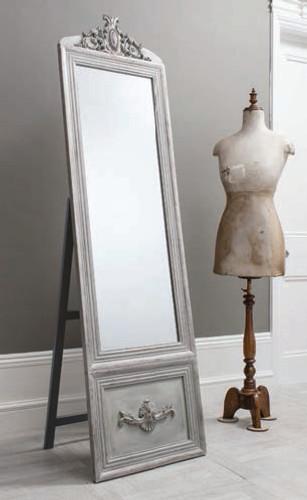 """Belvedere Mirror Vintage Silver Cheval 75.5x20.5"""""""