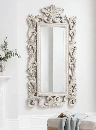 "Grande Heritage Mirror Cream 86x42"""