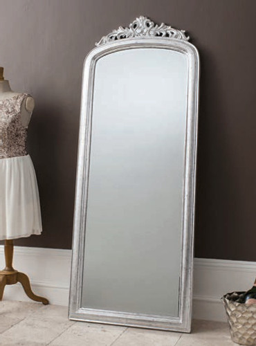 "Haighton Mirror Silver 73x28"""
