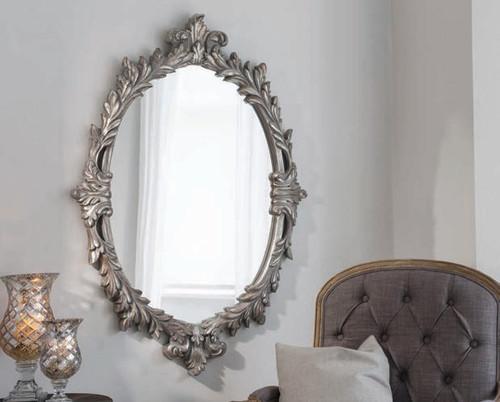 "Marland Silver Mirror 50x35"""