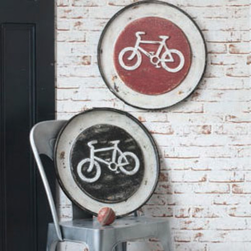 "Velo Metal Wall Plaque 19.5"" (Set of 2)""