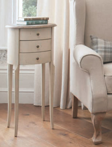 Wallace Side Table 3 Draw 40x40x86.5h cm