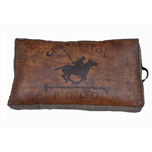 Charleston Polo Vintage Floor Pillow