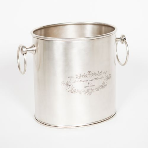 Engraved Wine Cooler - Antique Silver