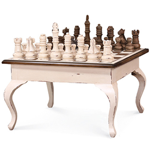 Gentleman's Chess Table w/ Chess Set - Any Colour