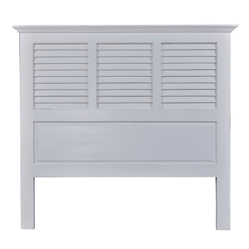 Shutter Queen Headboard - Architectural White Light Distressed