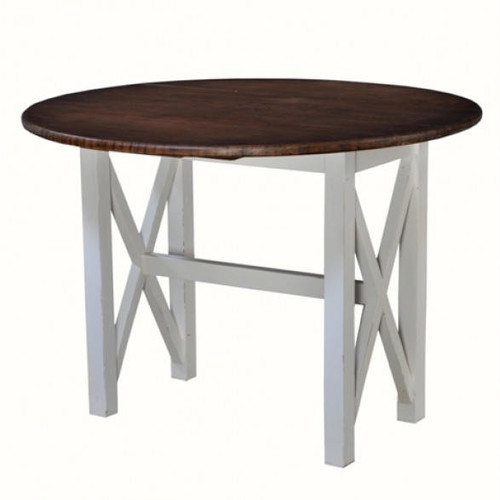 Fabulous Drop Leaf Table - White Light Distressed /ATO