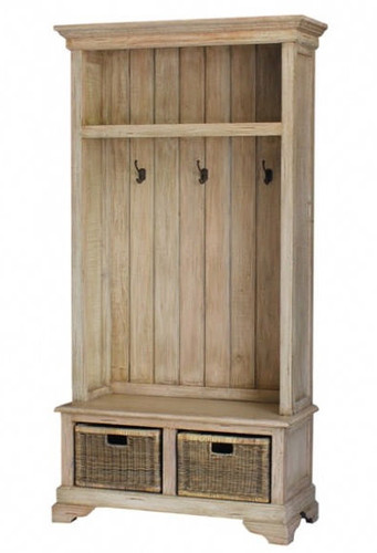 Homestead Hallstand w/Bench - Light Antique Oak /D00