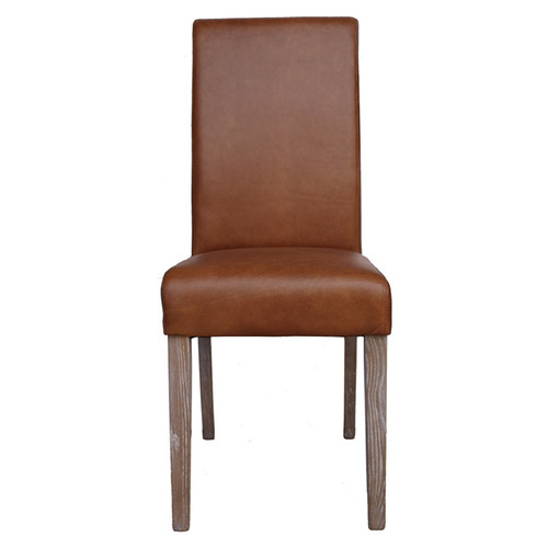 Hudson Leather Dining Chair - Burnt Caramel