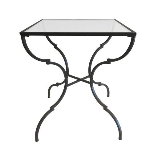 Quatrefoil Square Side Table