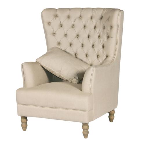 Monarch Wing Chair - Linen