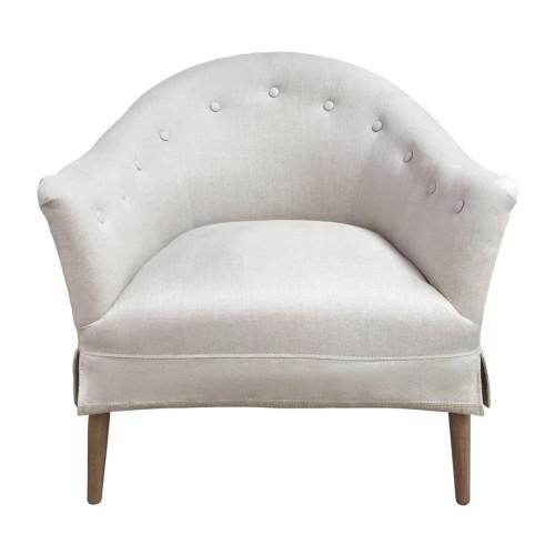 Claudette Tub Chair - Natural Linen