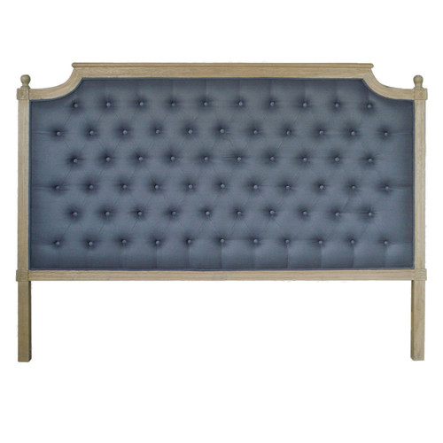 Francesca Tufted King Headboard - Charcoal Linen