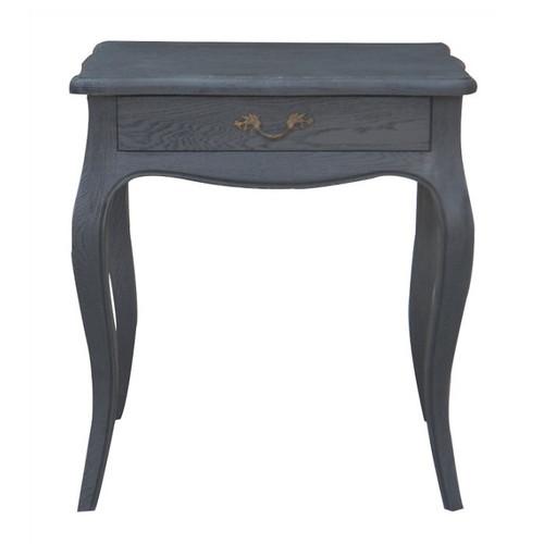 Josephine Bedside Table - Black Oak Drifted