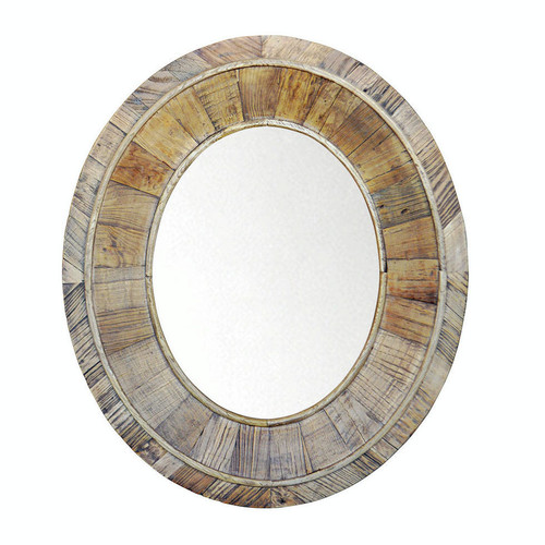 Brooklyn Oval Mirror - Reclaimed Elm