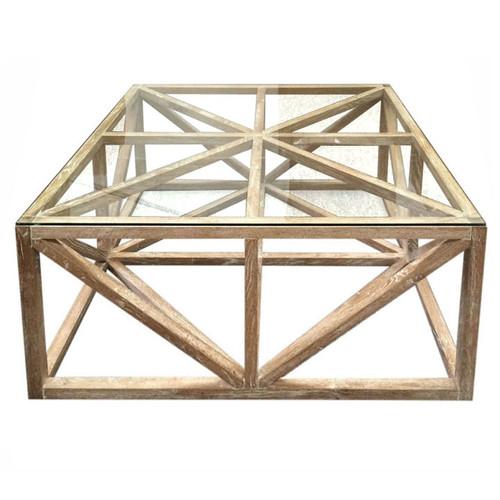 Geometric Oak Coffee Table