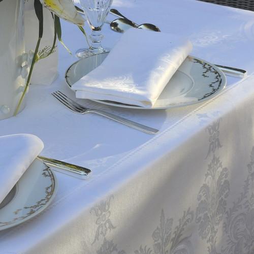 Table Napkins BEAUREGARD Blanc (Set of 4)