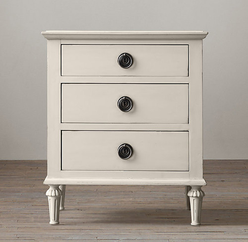 Bordeaux 3 Drawer Bedside (A/White)