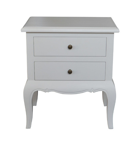 Marquis 2 Drawer Bedside (Antique White)