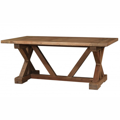 Hamptons X-Base Dining Table 180cm - Antique French Oak D00