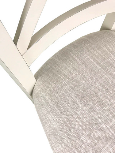 Cross Back Dining Chair - A/Cream + Bisque Detail