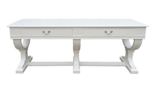 Provencal 2 Drawer Console - White