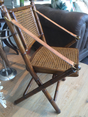 Martinique Bamboo Folding Chair - Size: 88H x 56W x 51D (cm)