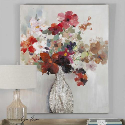 Cut Flower Bouquet - Hand Painted Artwork