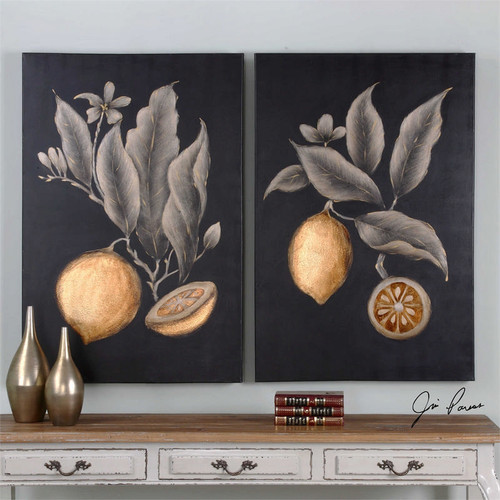 Citrus Study Set/2 - Hand Painted Artwork