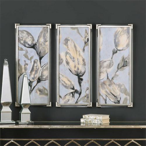 Flower Bud Triptych Set/3 - Framed Artwork