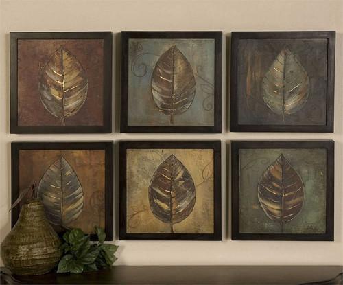 New Leaf Panels Set/6 - Oil Reproduction Artwork