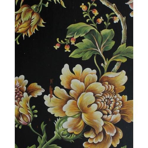 A480 Orange Floral Artwork