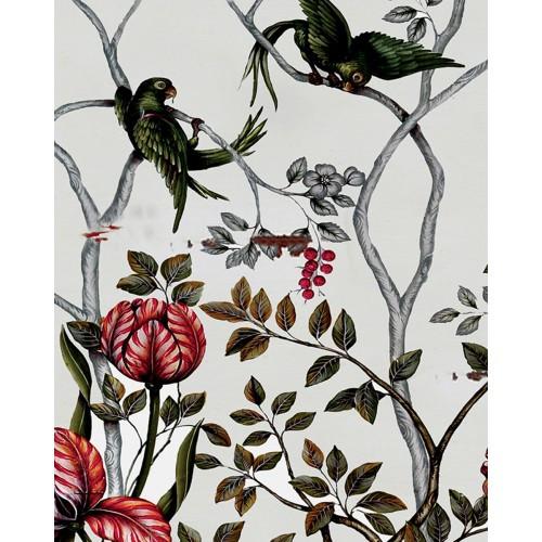 A49 Floral Tulips & Parrots