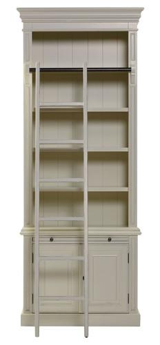 Classic 2 Door Bookcase + Ladder