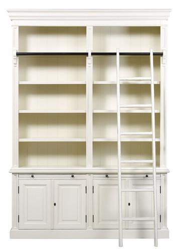 Classic 4 Door Bookcase + Ladder