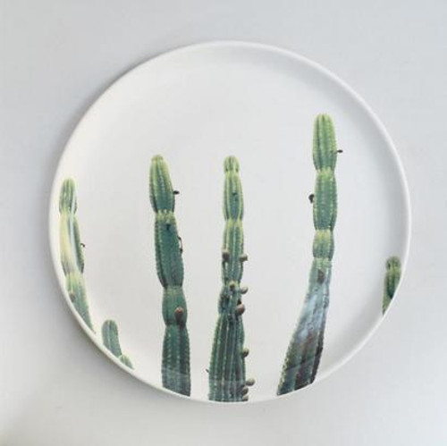 Printed Cactus Ceramic Plate 30cm