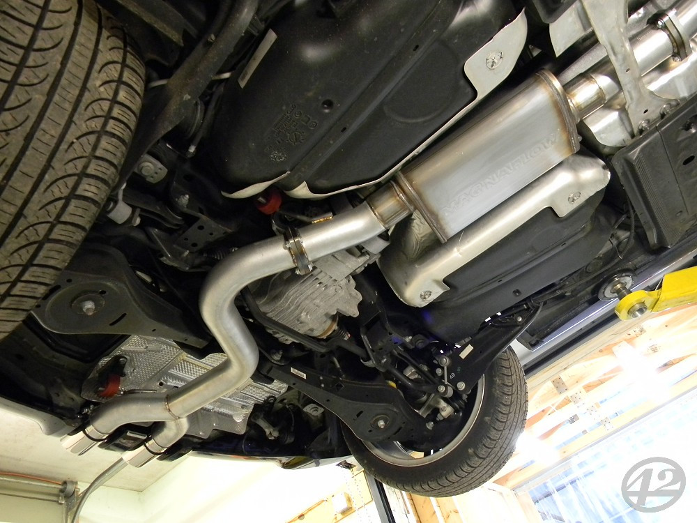 42DD Golf R Cat Back 42 Draft Exhaust System